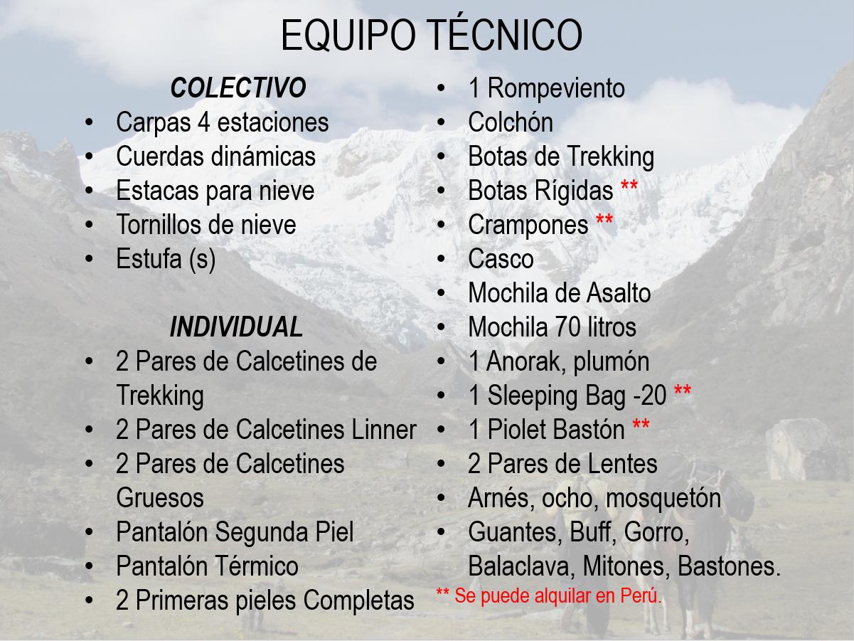 eQUIPO TECNICO