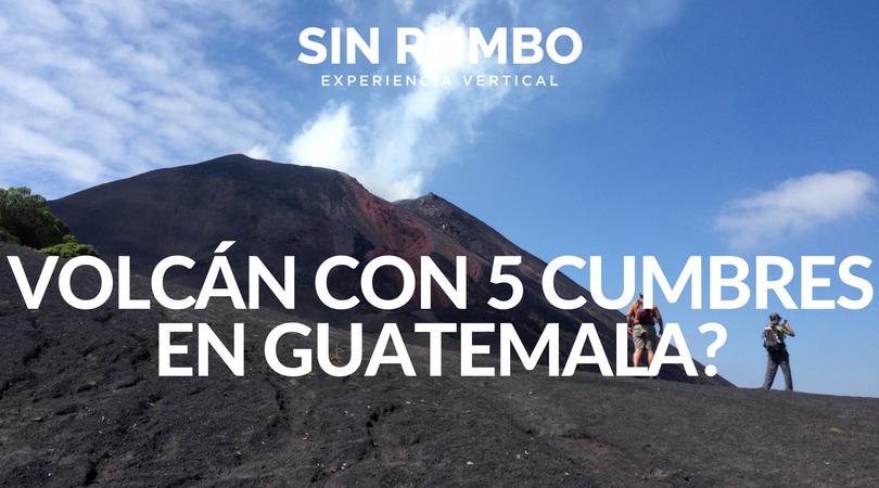 El Volcán Activo de Guatemala con 5 Cumbres