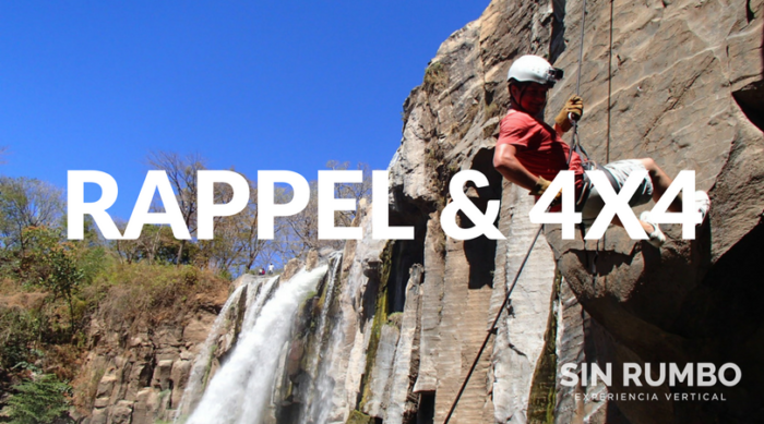 Rappelling & 4x4 Adventure - Los amates waterfall private tour