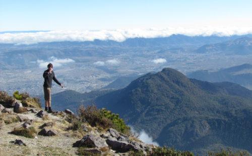 Viaje al volcán santa maría guatemala